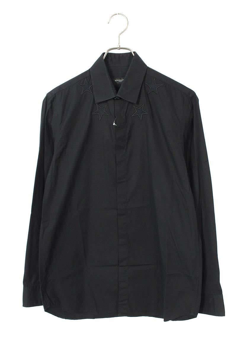 スター刺繍長袖シャツ