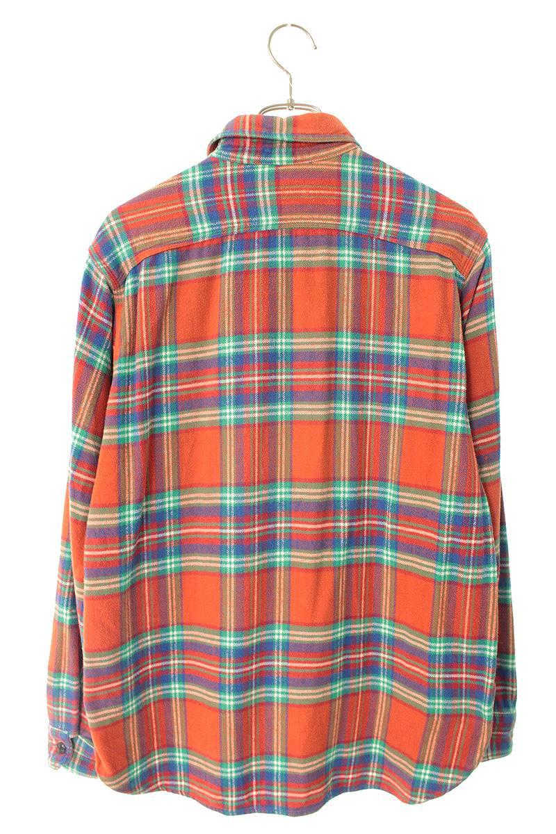 チェック柄長袖シャツ