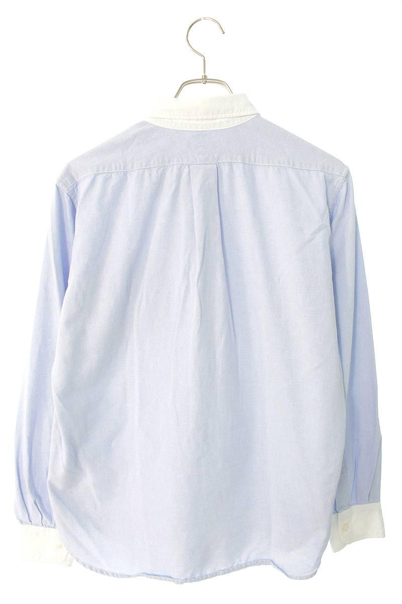 オックスフォードラウンドカラー長袖シャツ