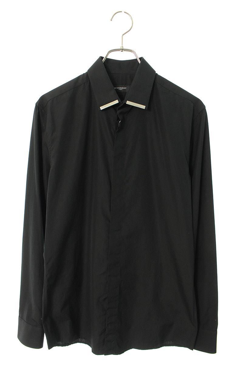 メタルプレート装飾長袖シャツ