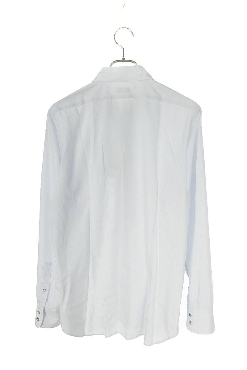 ピンストライプ長袖シャツ