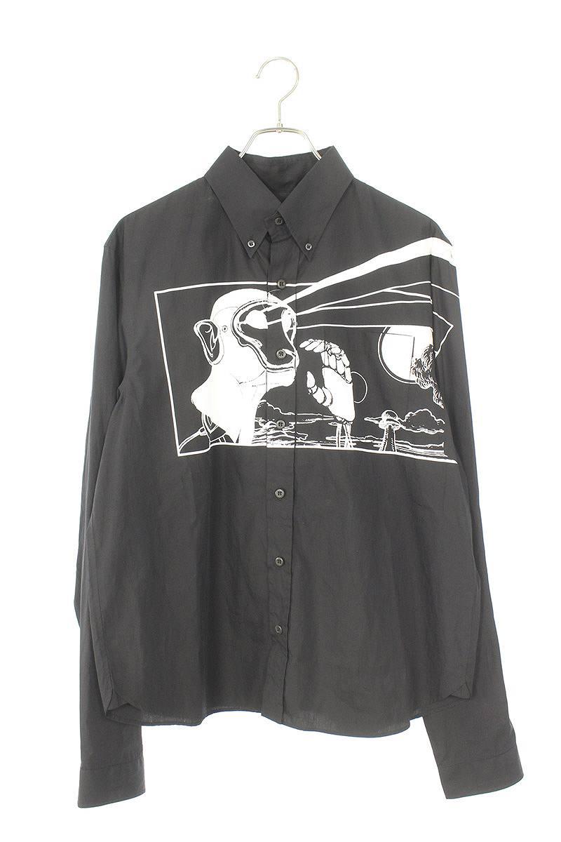 コミックモンキープリント長袖シャツ