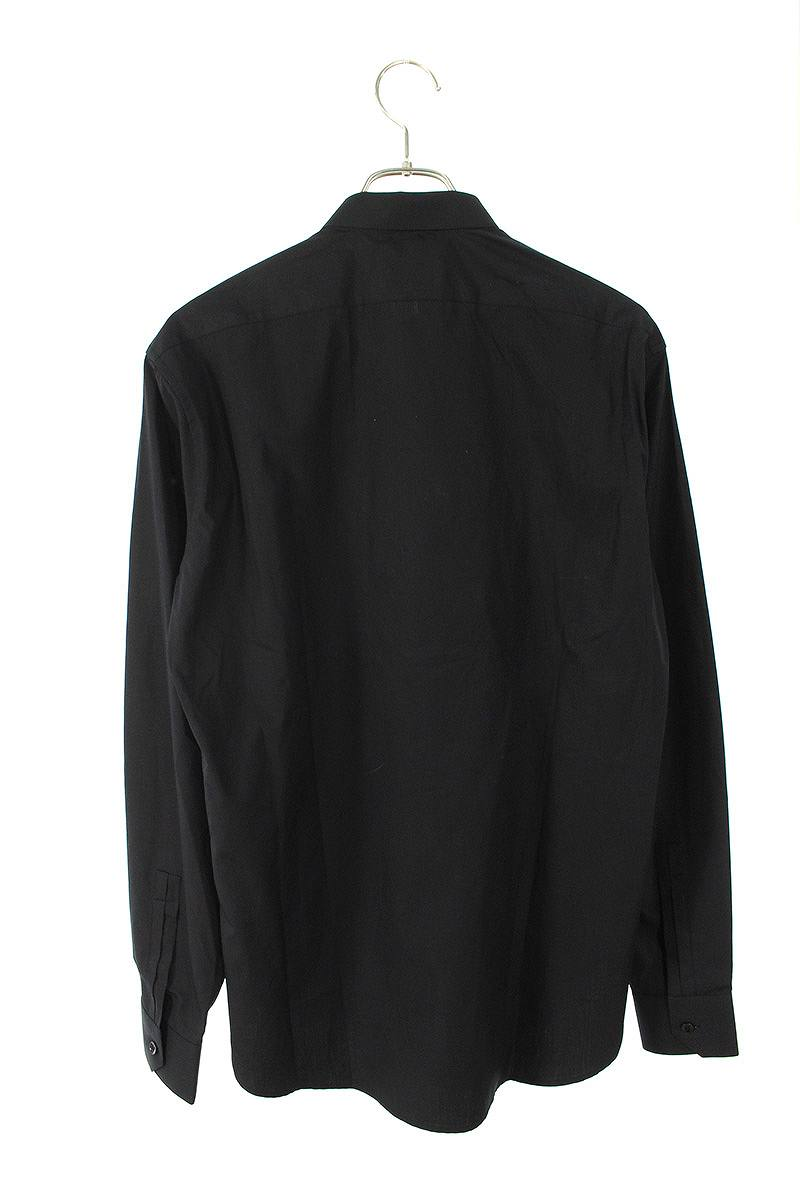 ナローカラー比翼長袖シャツ