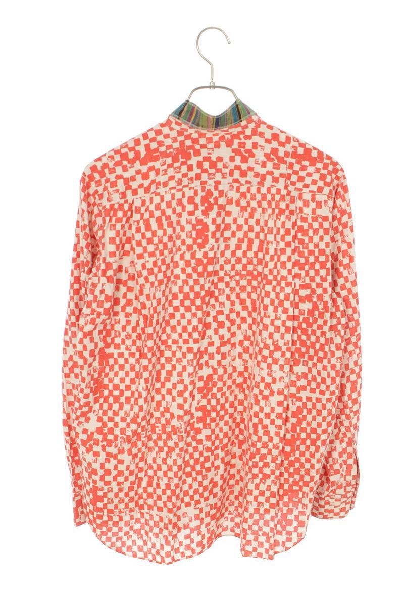 AD2007 タイカラーチェック長袖シャツ