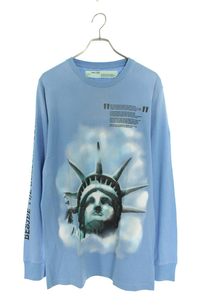 自由の女神プリント長袖シャツ