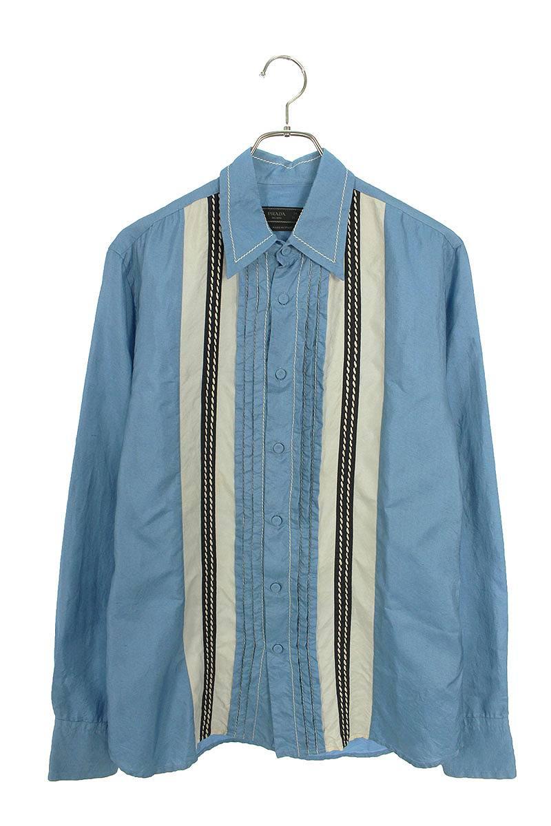 シルクステッチ長袖シャツ