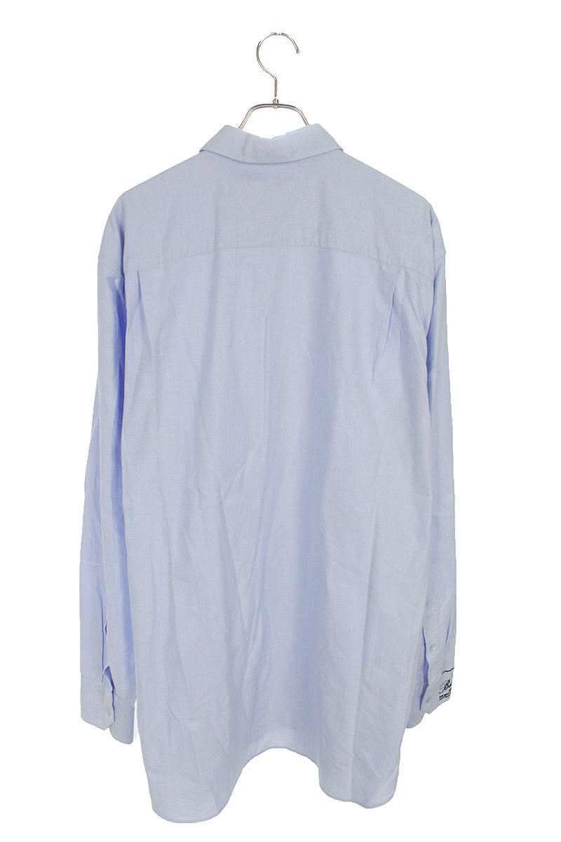 袖刺繍オーバーサイズオックスフォード長袖シャツ