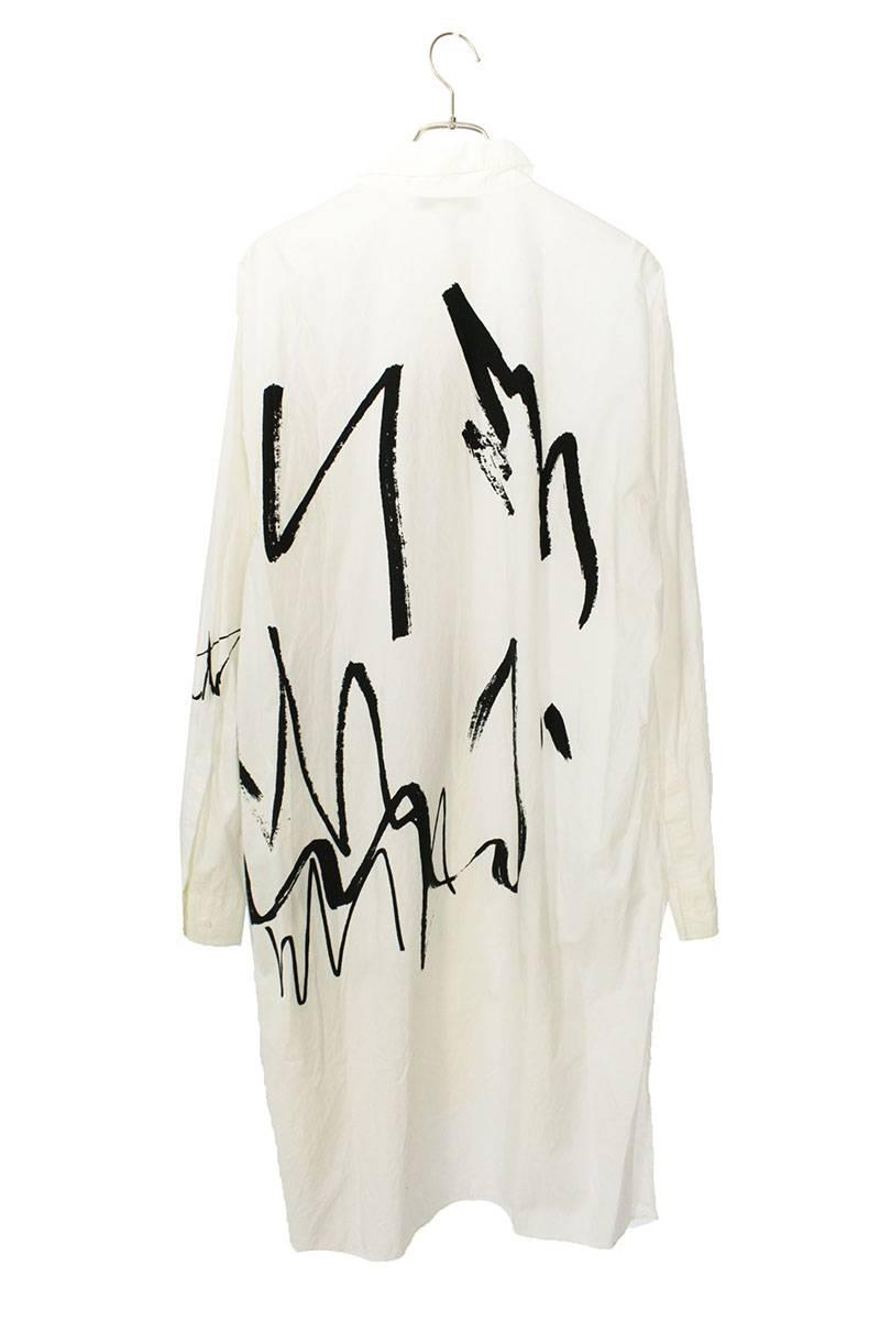 グラフィックプリントロング長袖シャツ