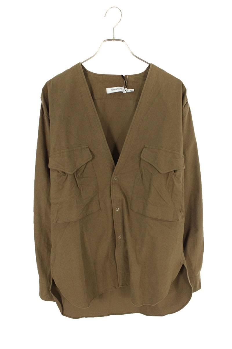 フランネルジャケット長袖シャツ