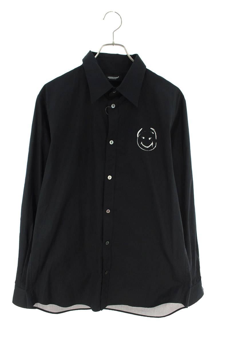 バックプリント長袖シャツ