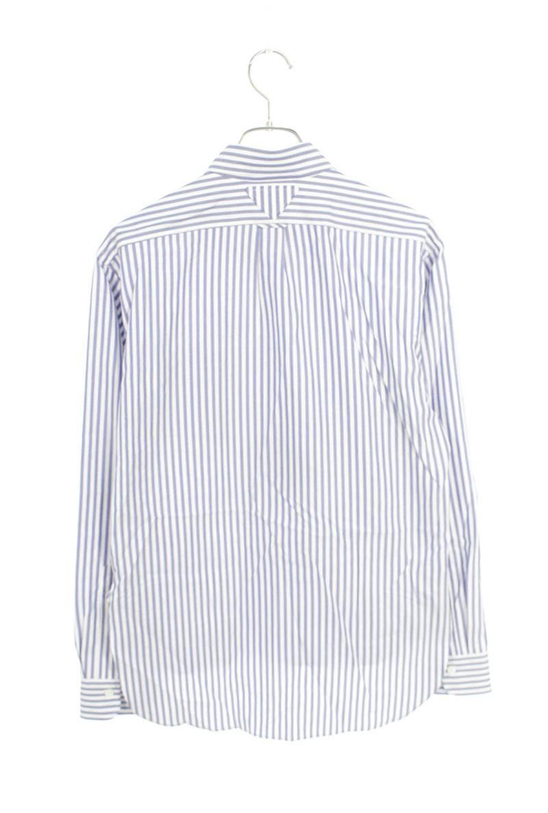 ロゴプリントストライプ長袖シャツ