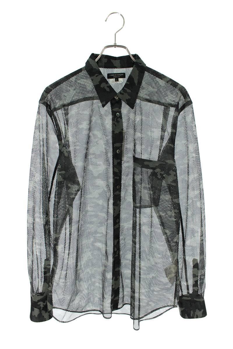 AD2018迷彩柄メッシュ長袖シャツ