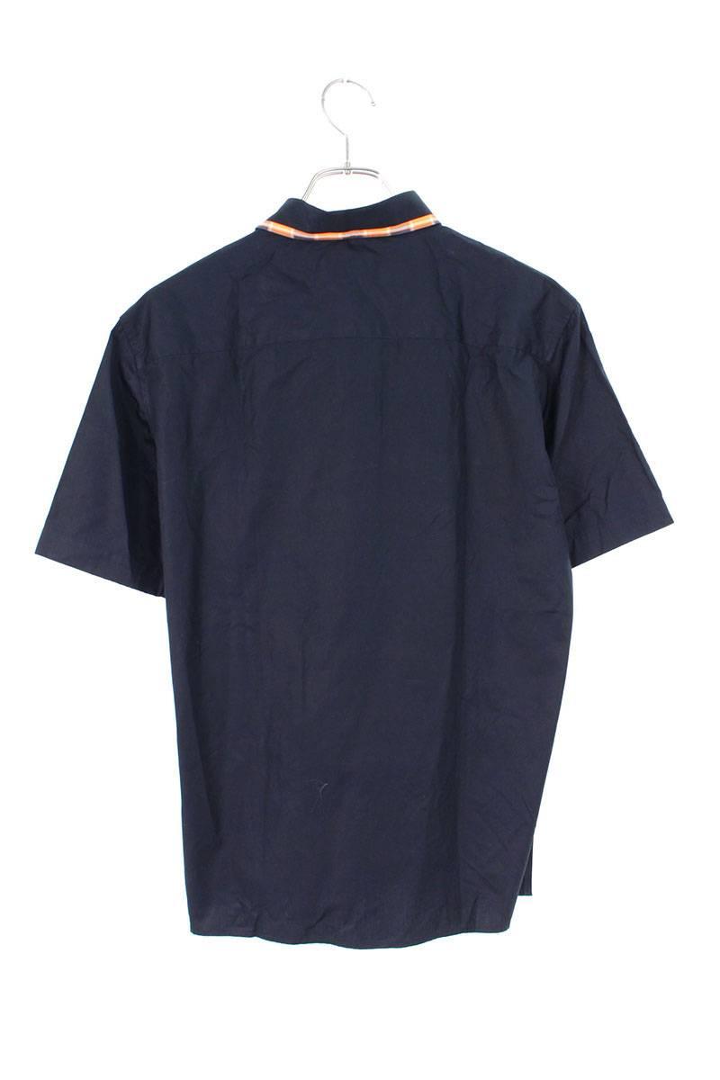 襟切替コットン半袖シャツ