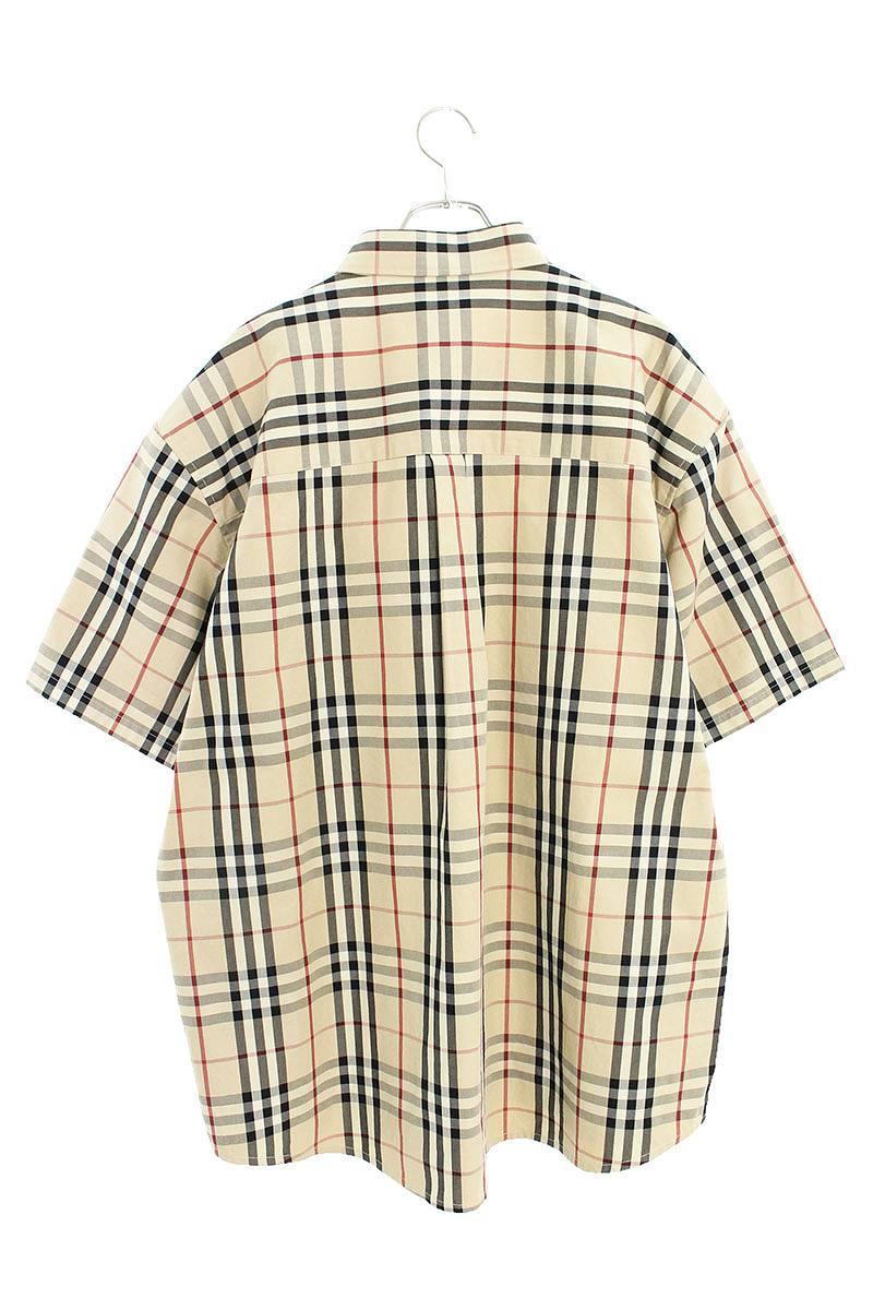 ロゴ刺繍ノヴァチェック半袖シャツ