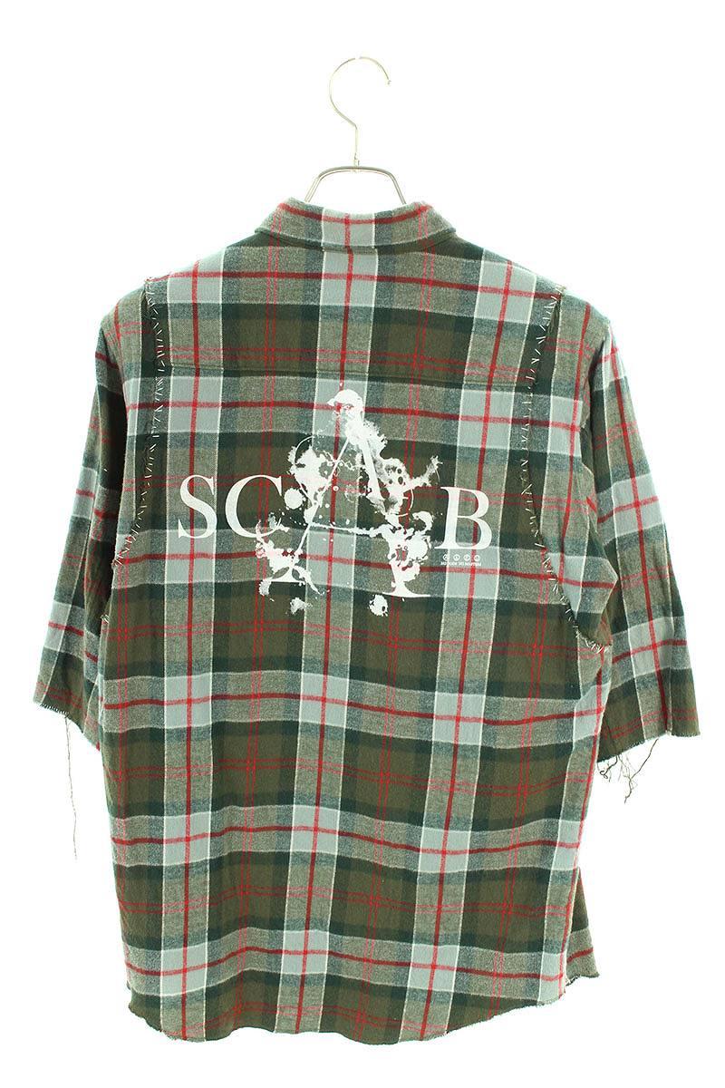 SCAB期復刻チェックネル半袖シャツ