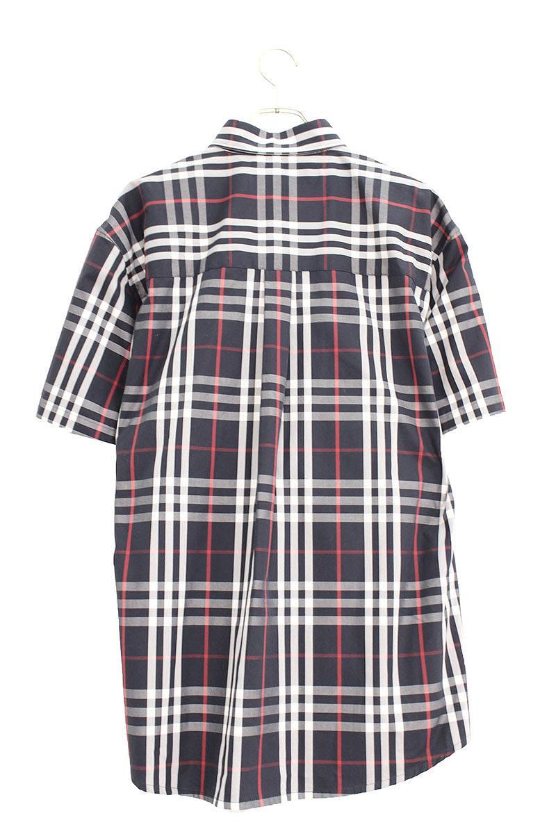 ノヴァチェックオーバーサイズド半袖シャツ