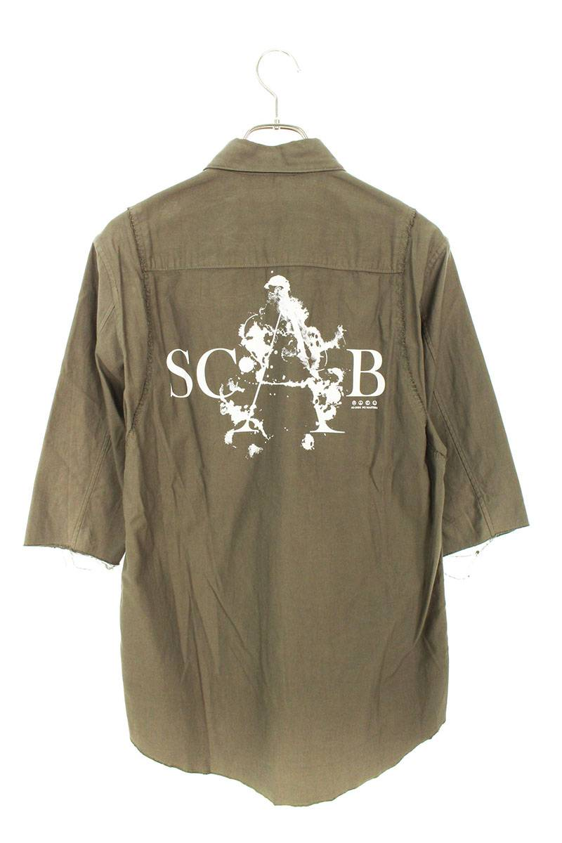 バックSCABプリント半袖シャツ