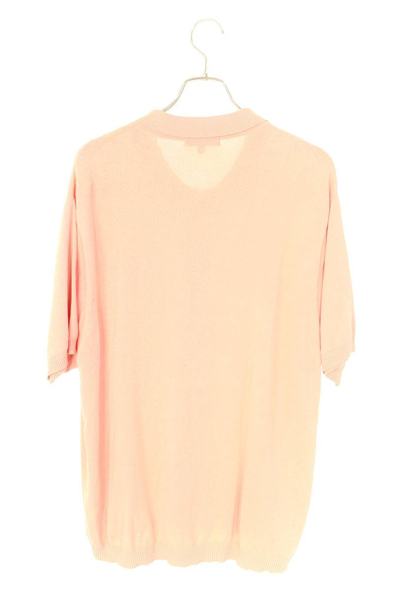 ウェーブニットジップアップ半袖シャツ