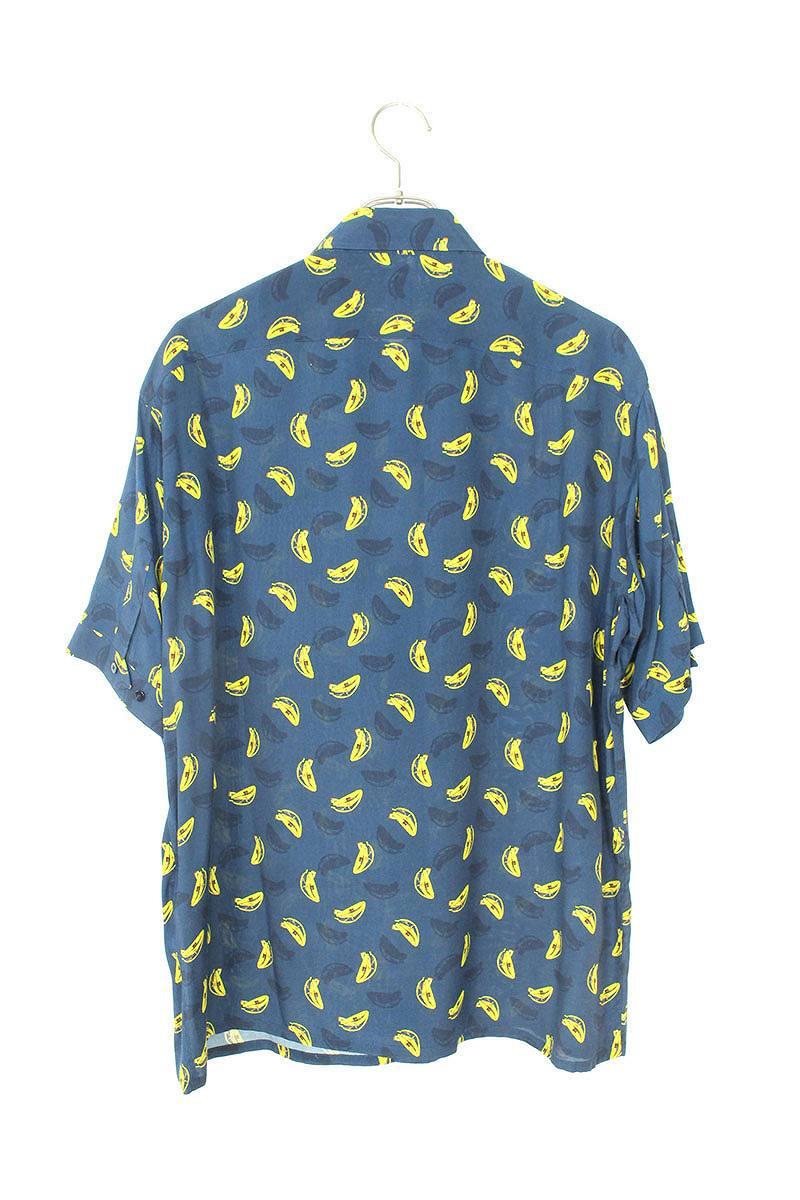 バナナ総柄半袖シャツ