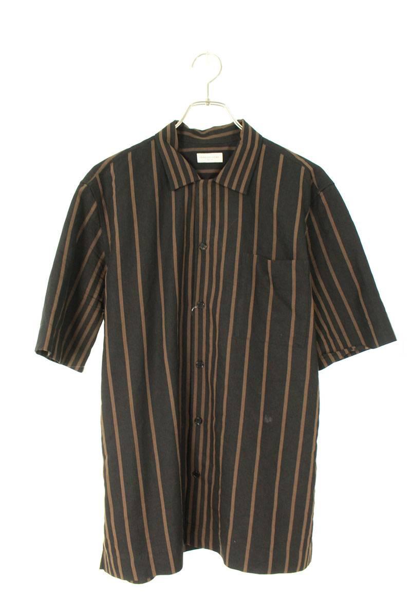 マルチストライプオープンカラー半袖シャツ