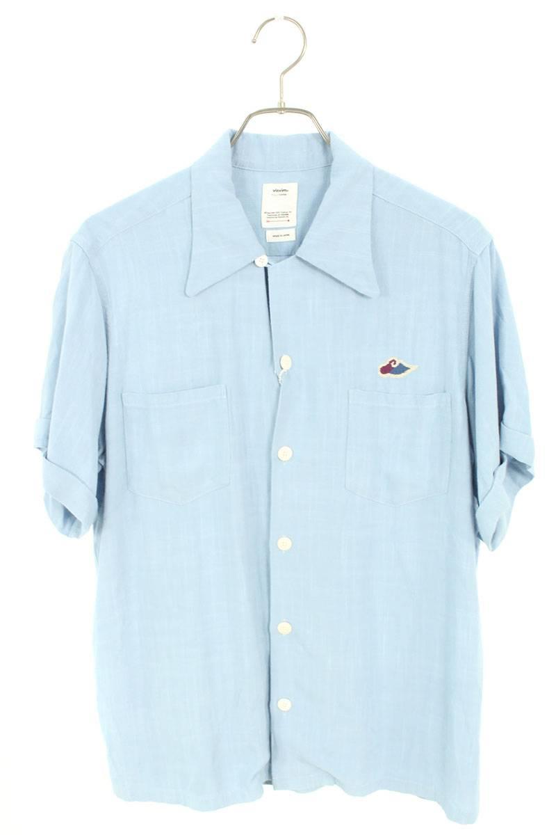 バック刺繍アービング半袖シャツ