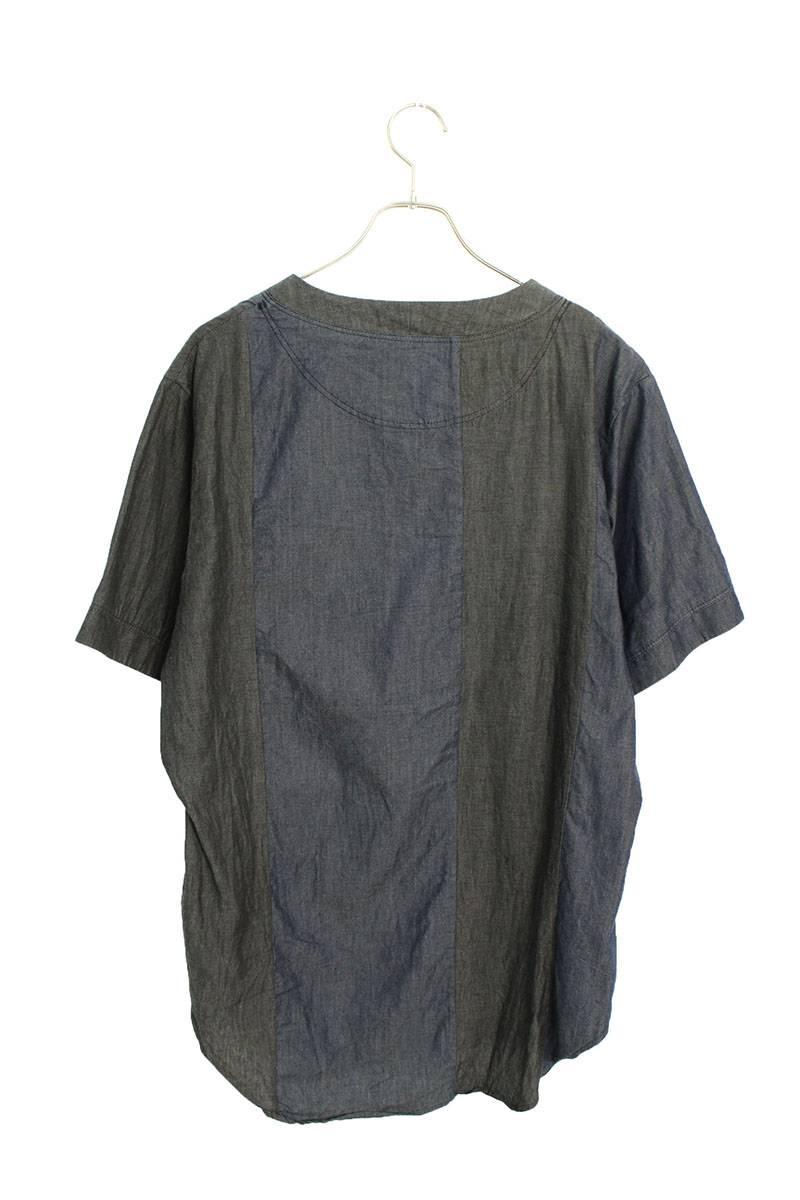 カラー切替プルオーバー半袖シャツ