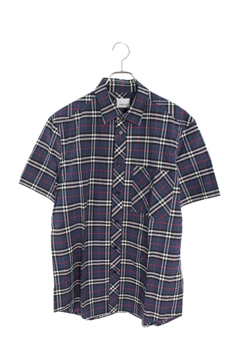 TBロゴ刺繍タータンチェック半袖シャツ