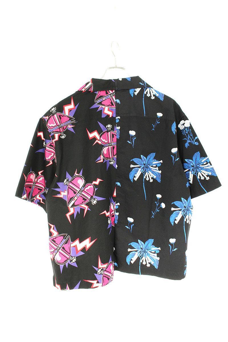 ダブルマッチ総柄半袖シャツ