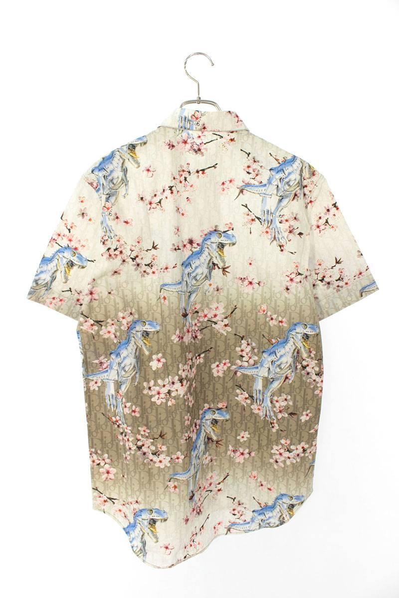 ダイナソー総柄半袖シャツ