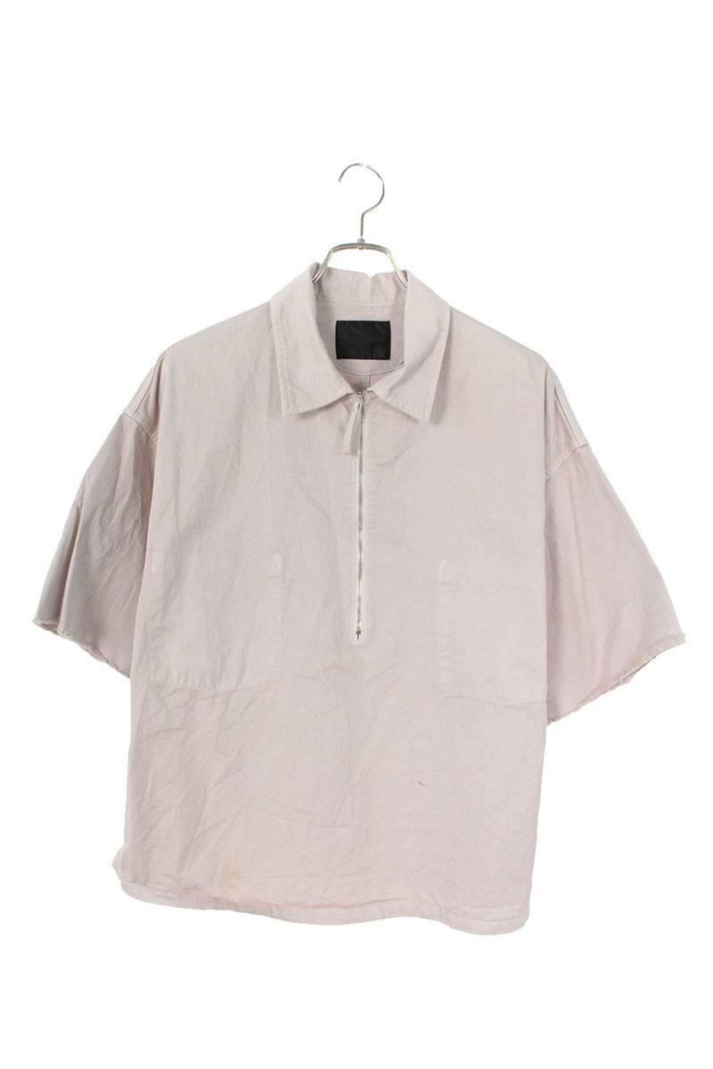 ジップアップワーク半袖シャツ