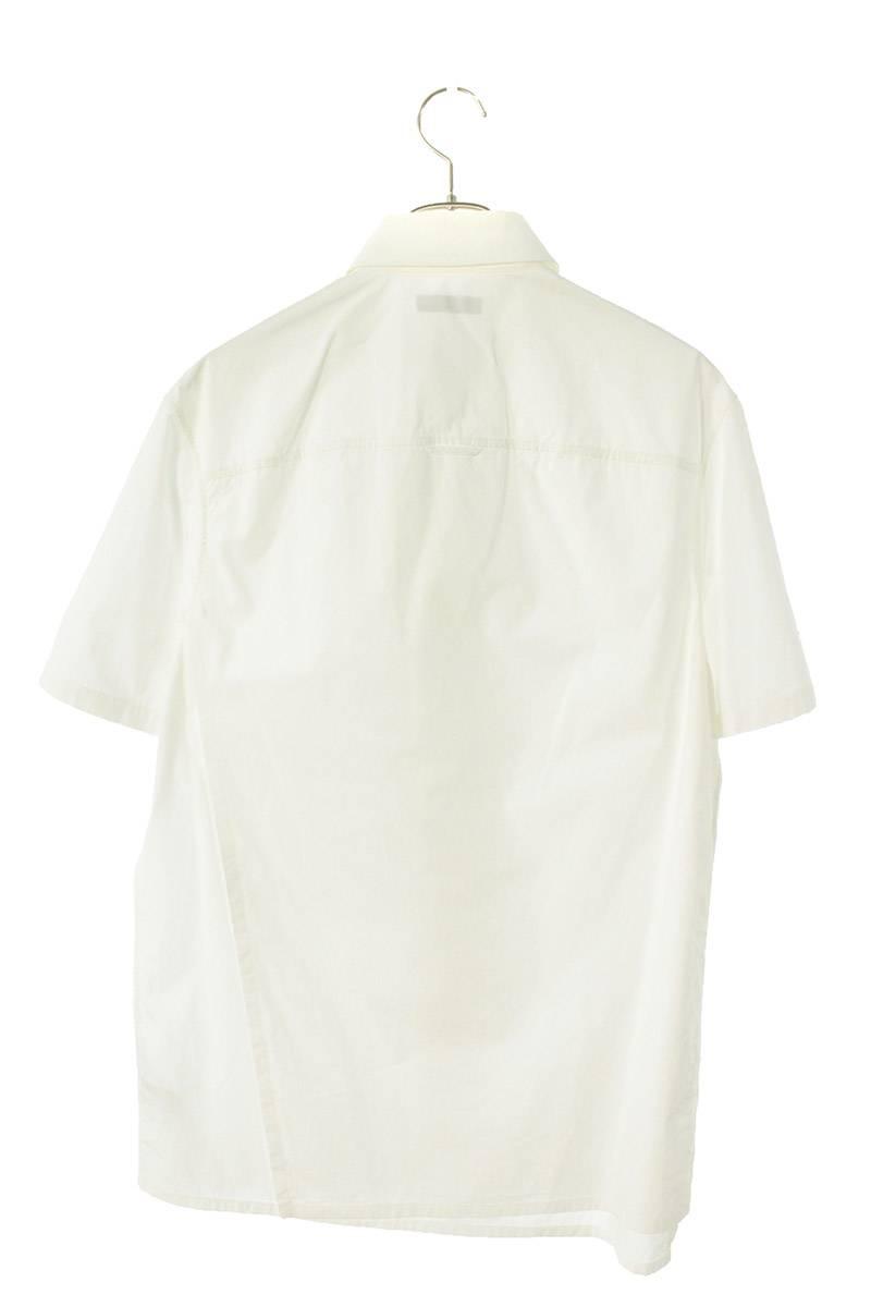 レイヤードボタンデザイン半袖シャツ
