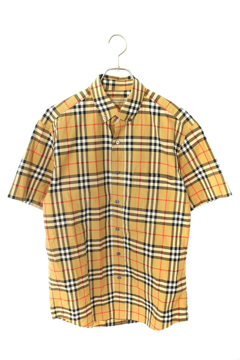バーバリーチェック半袖シャツ