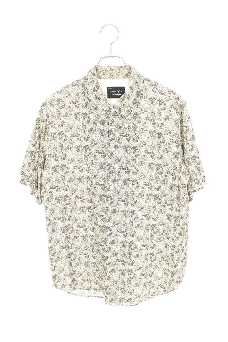 フラワープリント半袖シャツ
