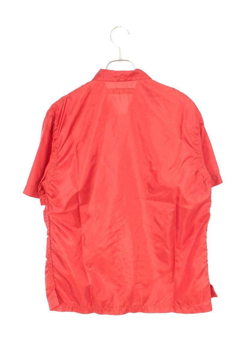AD2004 ポリエステルレーヨン切り替え刺繍半袖シャツ