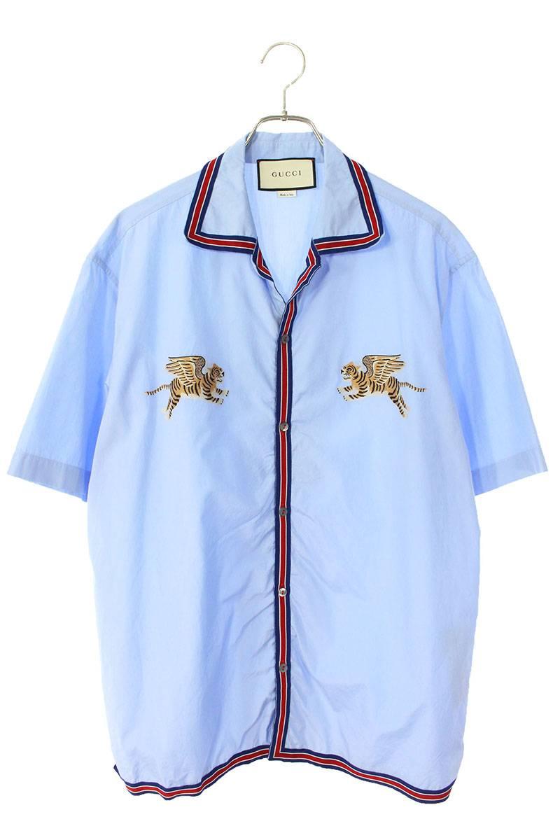 タイガープリント開襟半袖シャツ
