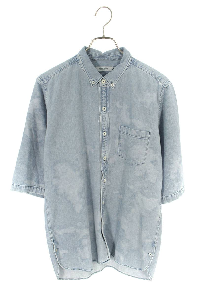 ボタンダウンデニム半袖シャツ