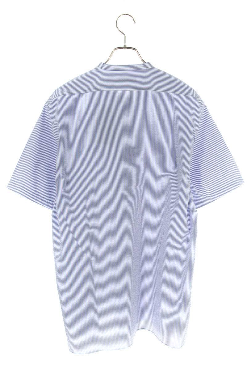 シアサッカー半袖シャツ
