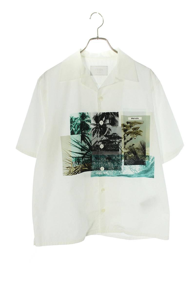 フロントフォトプリント半袖シャツ
