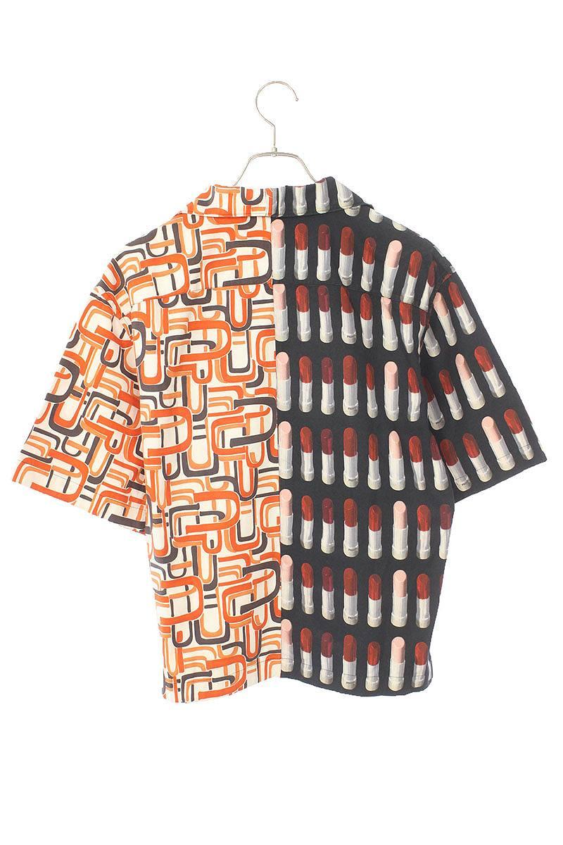 グラフィック切替ロゴ半袖シャツ