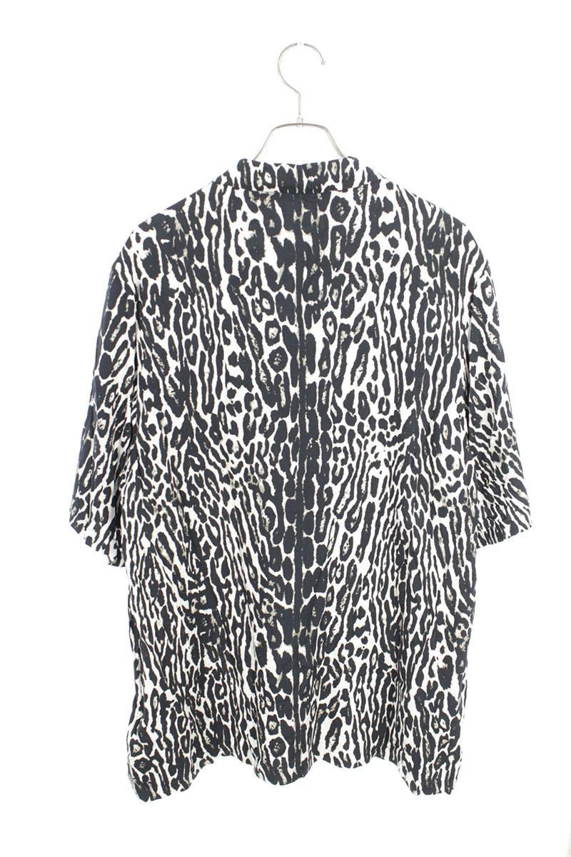 レオパード柄ロゴラバーパッチ半袖シャツ