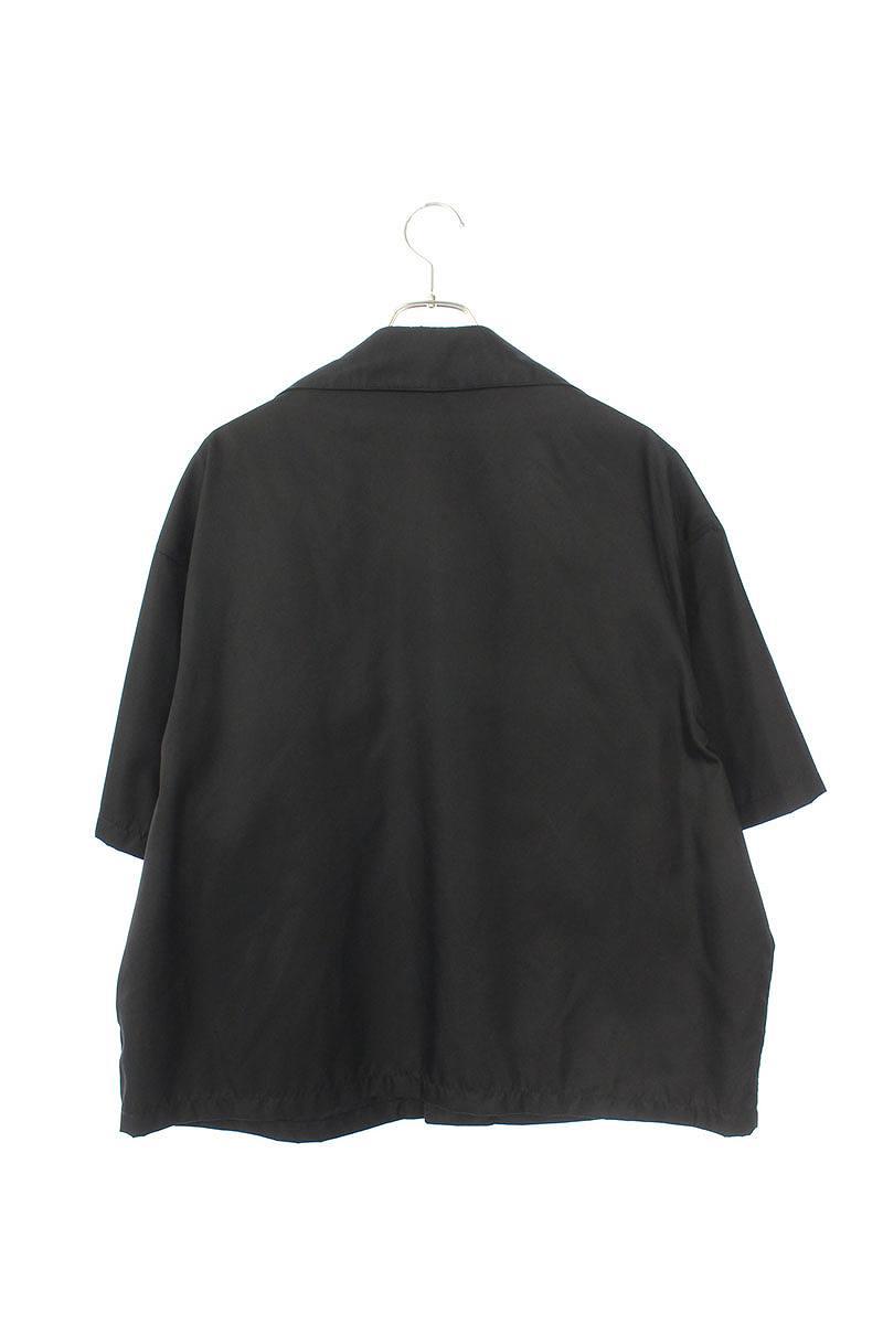 ナイロンギャバジンオープンカラー半袖シャツ