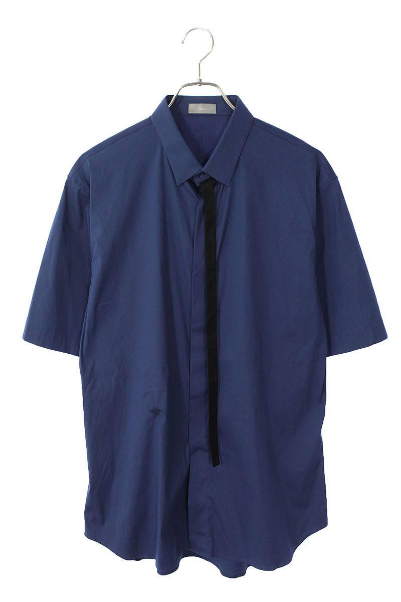 BEE刺繍ストレッチリボン半袖シャツ