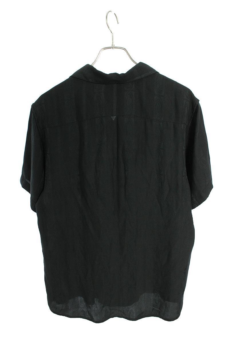 レーヨンマリア刺繍オープンカラー半袖シャツ