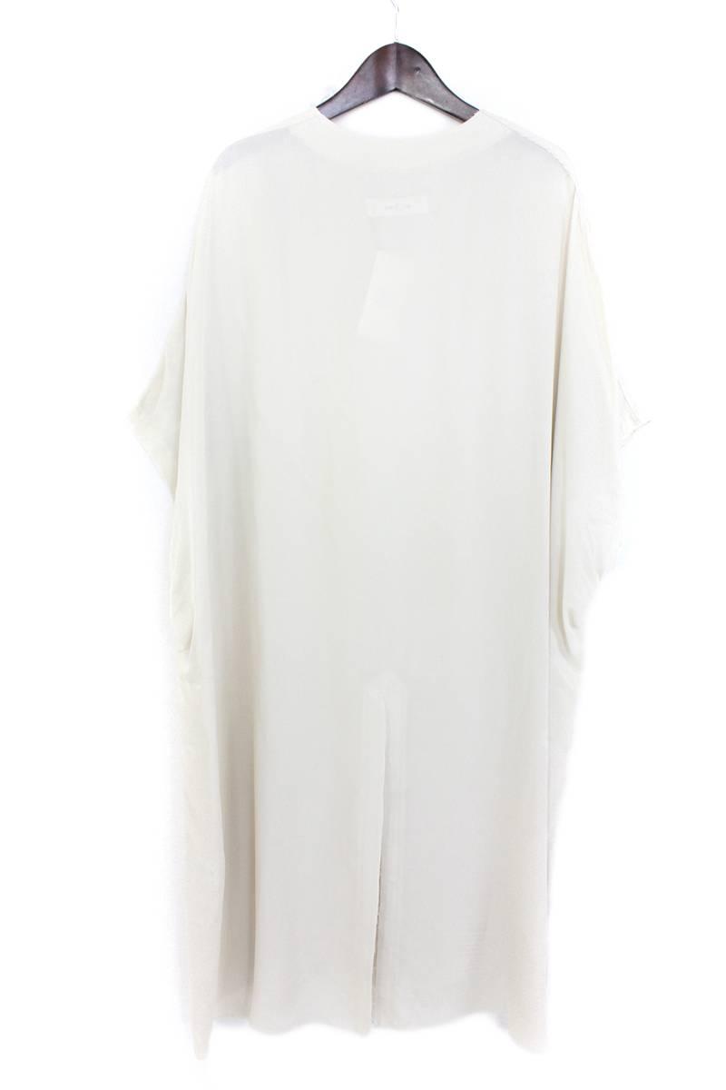 プルオーバーオーバーサイズキュプラノースリーブシャツ