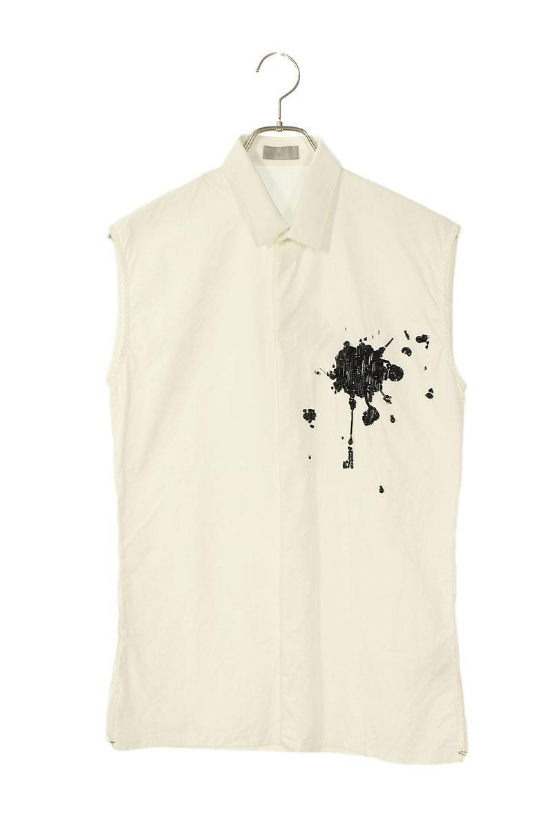 ハートブレイク ビーズ装飾ノースリーブシャツ