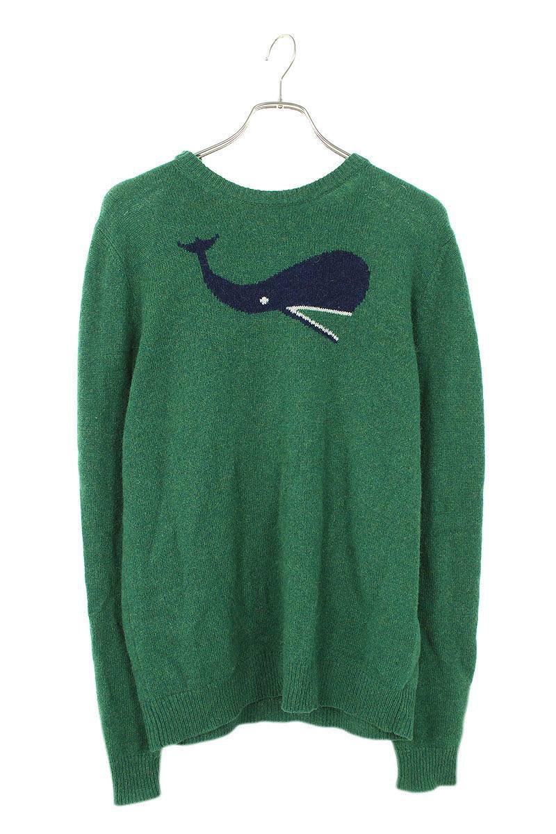 クジラ柄ニット