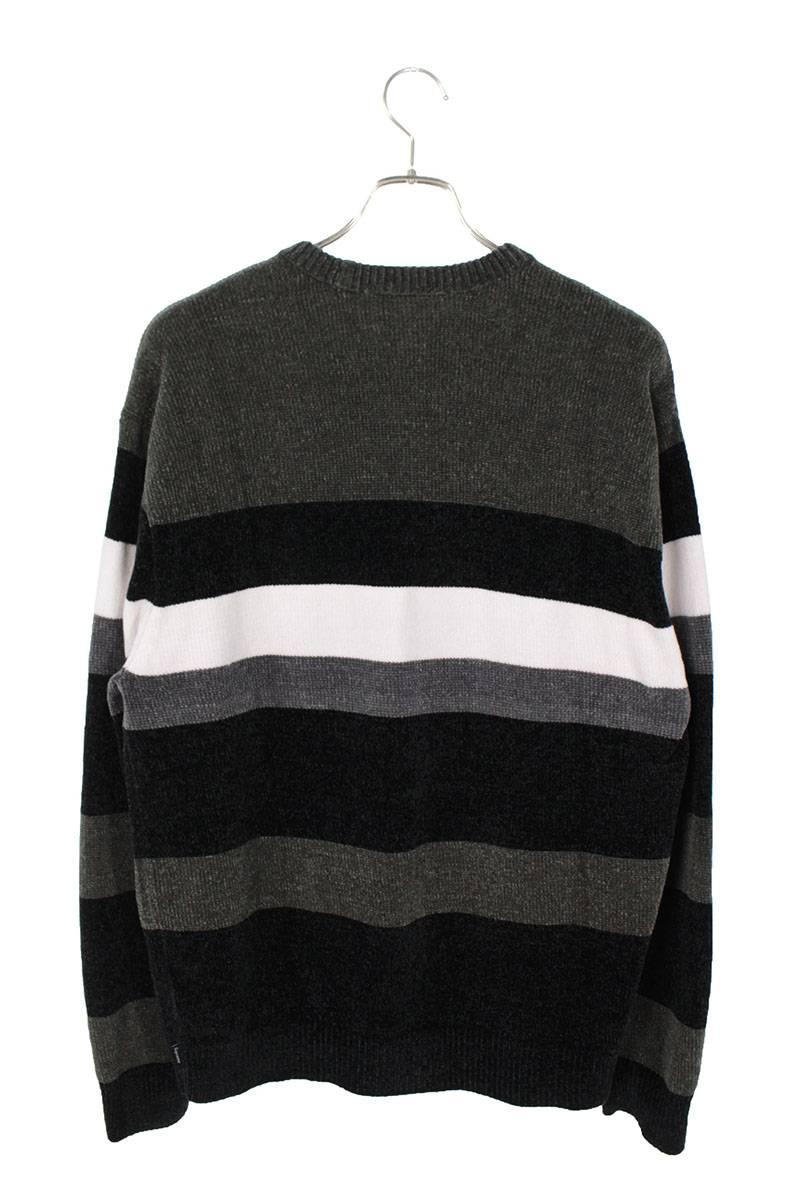 シェニールボーダーニットセーター