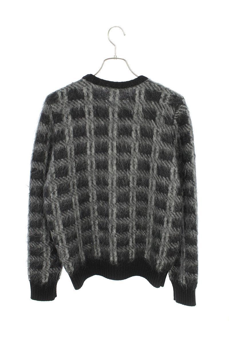 総柄クルーネックモヘヤニットセーター