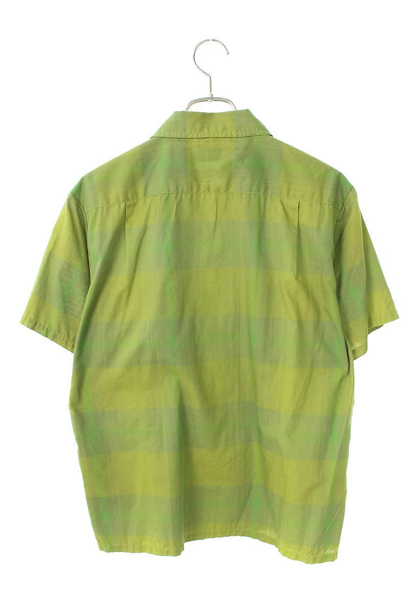 胸ポケットチェック半袖シャツ