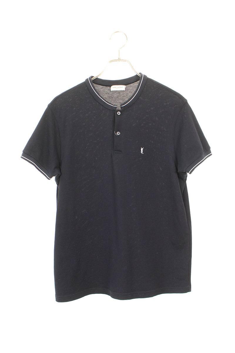 ノーカラー半袖ポロシャツ